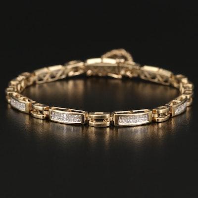 14K 2.43 CTW Diamond Line Bracelet