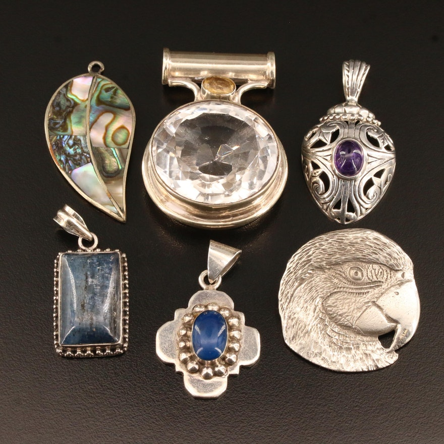 Selection of Sterling Silver Multi-Gemstone Pendants