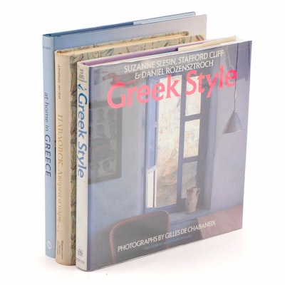 "Grecian and Russian Design Books including ""At Home In Greece"" by Julia Klimi"