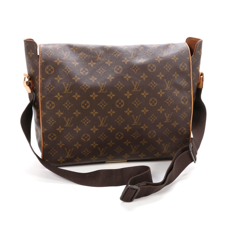 Louis Vuitton Abbesses Messenger Bag in Monogram Canvas and Vachetta Leather