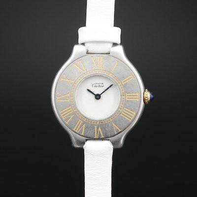 Cartier Must de Cartier 21 Stainless Steel and Gold Plate Quartz Wristwatch