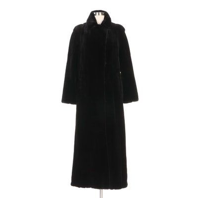 Michael Kors Black Sheared Mink Fur Full-Length Coat from Neiman Marcus
