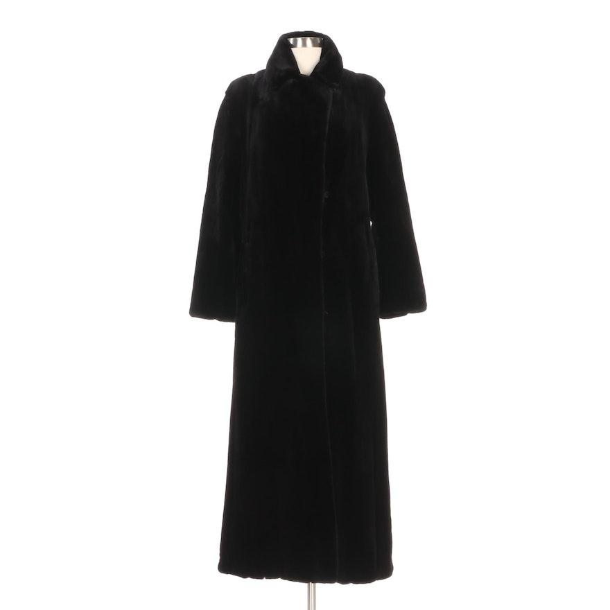 Michael Kors Black Sheared Mink Fur Full-Length Coat from Neiman Marcus