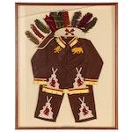 Framed Child's Vintage Native American Costume