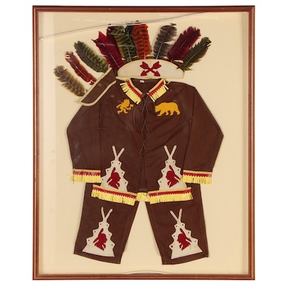 Framed Child's Vintage Native American Costume