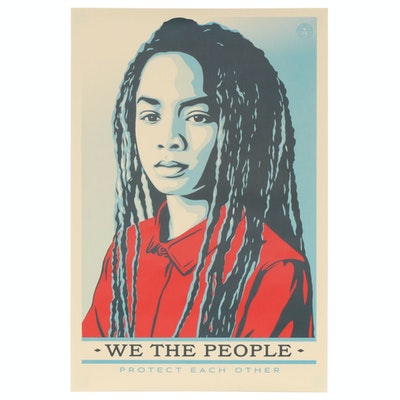"Shepard Fairey for Amplifier Offset Poster ""We the People: Protect Each Other"""