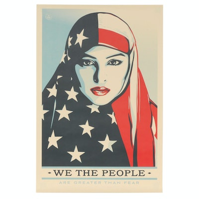 "Shepard Fairey for Amplifier Offset Print ""We the People: Are Greater Than Fear"""