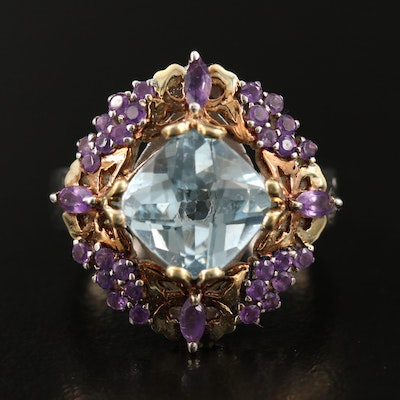 Sterling Topaz and Amethyst Ring