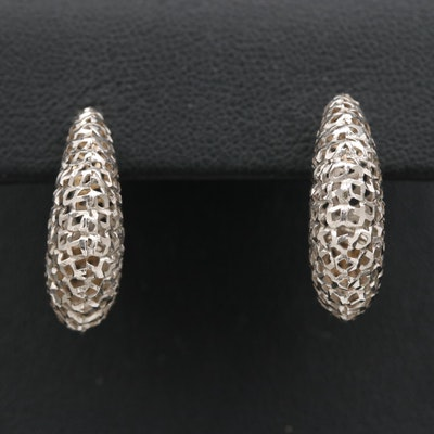 18K Openwork Hoop Earrings