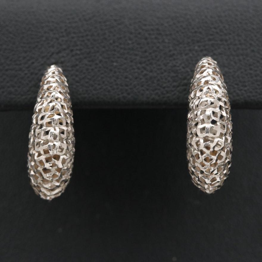 18K Openwork Hoop Earrings