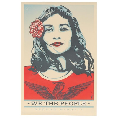 "Shepard Fairey for Amplifier Offset Poster ""We the People: Defend Dignity"""