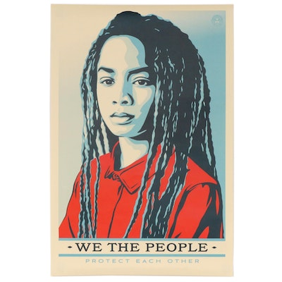 "Shepard Fairey for Amplifier Offset Poster ""We the People: Defend Each Other"""