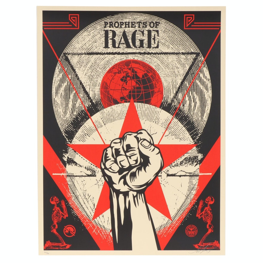 """Shepard Fairey Serigraph """"Prophets of Rage: New Day Rising"""", 2017"""