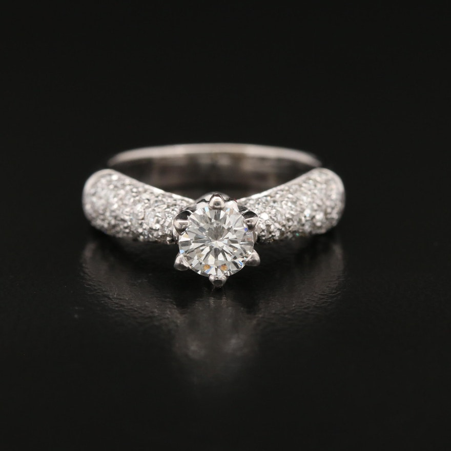 18K 1.28 CTW Diamond Ring