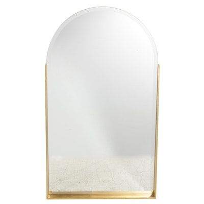 John Richard Arched Wall Mirror with Gold Toned Frame