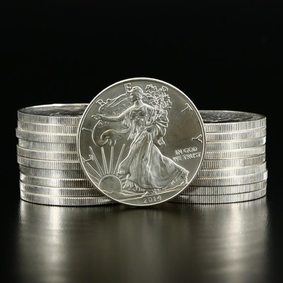 Mint Roll of Twenty .999 Fine Silver Silver Eagle Bullion Coins, 2014