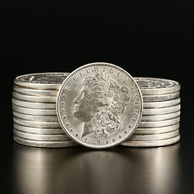 Twenty 1889 Morgan Silver Dollars