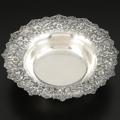 S. Kirk & Son Hand Decorated Repoussé Sterling Silver Bowl, 1932–1961