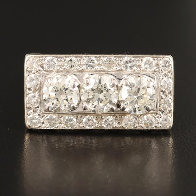 14K 3.00 CTW Diamond Rectangular Ring