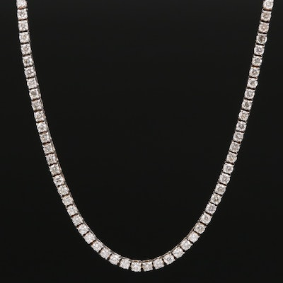 14K 4.50 CTW Diamond Line Necklace