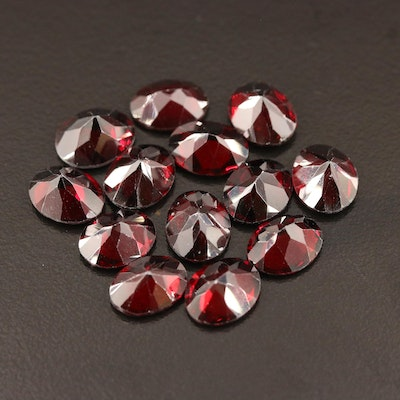 Loose 39.25 CTW Oval Faceted Garnets