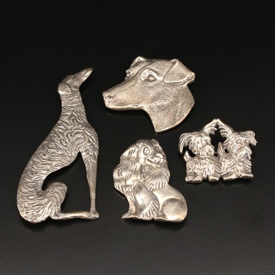 Sterling Dog Pins
