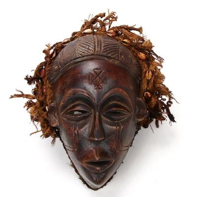 Chokwe Hand-Carved Wood Mask, Central Africa