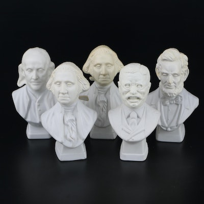AVON Presidential Bust Bottles Including Washington, Lincoln and Others, 1979