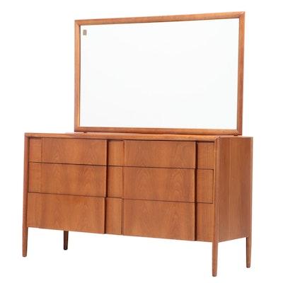 "Barney Flagg for Drexel ""Parallel"" Mid Century Modern Walnut Dresser"