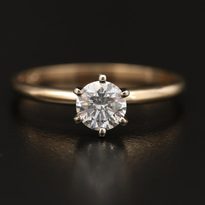 14K 0.50 CT Diamond Solitaire Ring