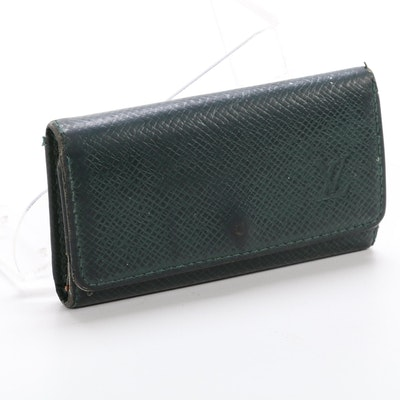 Louis Vuitton Multicles-4 Key Holder in Dark Green Taiga Leather