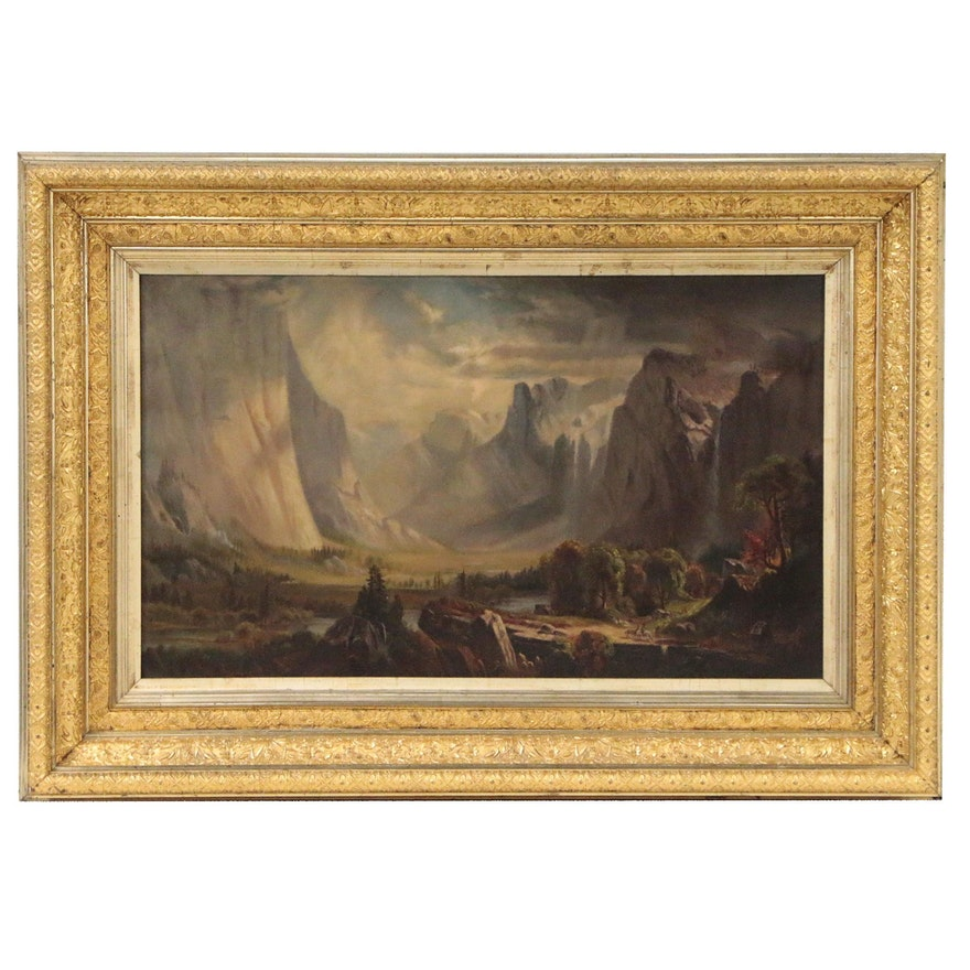 Landscape Oil Painting after Thomas Hill of Yosemite
