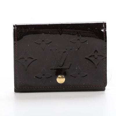Louis Vuitton Monogram Vernis Business Card Holder in Amarante