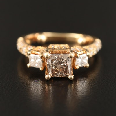 14K 1.64 CTW Diamond Step Ring