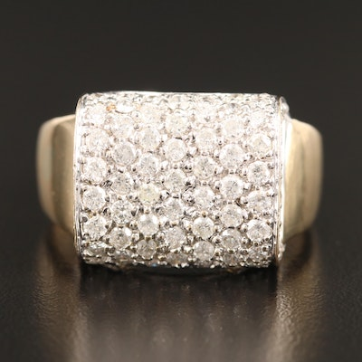 14K 2.07 CTW Pavé Diamond Ring