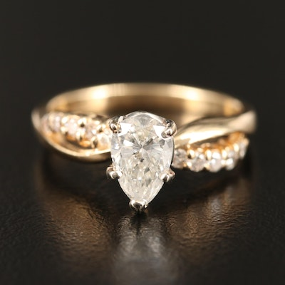 14K 1.10 CTW Diamond Infinity Ring