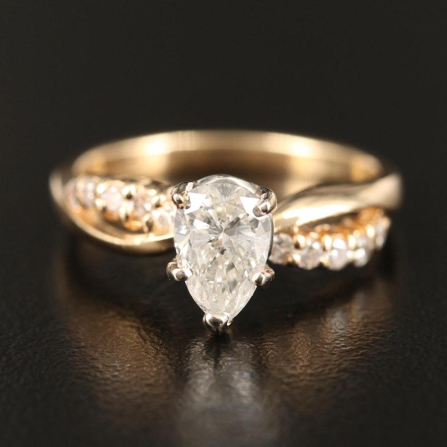 14K 1.10 CTW Diamond Infinity Ring