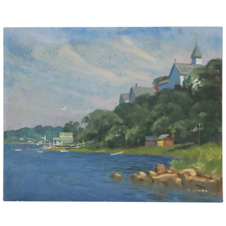 "Joseph Di Gemma Oil Painting ""Riverdale"", Late 20th Century"