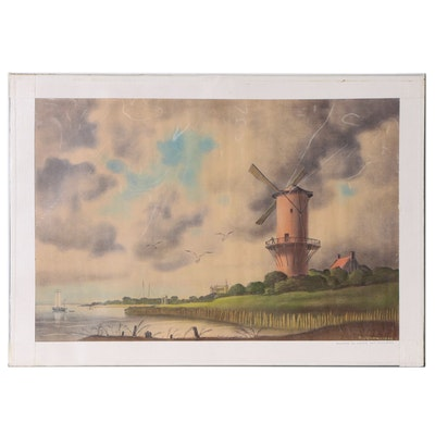 Joseph Di Gemma Lithograph after Jacob van Ruisdael, Late 20th Century