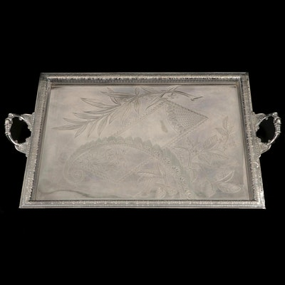 Pairpoint Mfg. Co. Aesthetic Movement Silver Plate Waiter's Tray, Late 19th C.