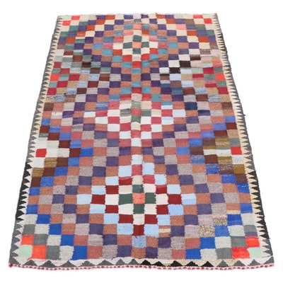 4'9 x 9'5 Handwoven Turkish Kilim Patchwork Rug