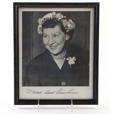 Mamie Eisenhower Signed Photo, Framed  Visual COA