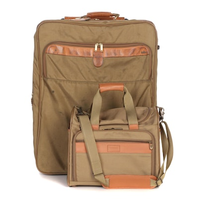 Hartmann Luggage Carry-On and Two-Wheeled Soft-Side Suitcase in Khaki Canvas