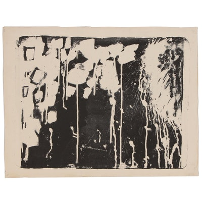 Arthur Helwig Abstract Lithograph, Mid 20th Century