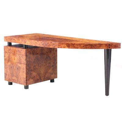 "Leon Rosen for the Pace Collection ""Boca"" Pedestal Desk"