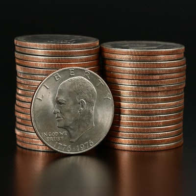 Thirty-Six Clad Eisenhower Bicentennial Dollars