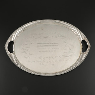 Lazarus Posen Witwe German 800 Silver World War I Commemorative Tray, 1917