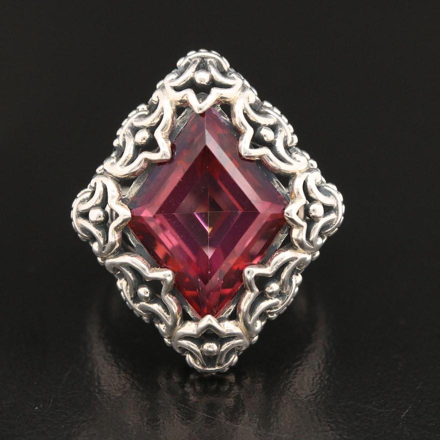 Sterling Silver Quartz Fleur-de-lis Ring
