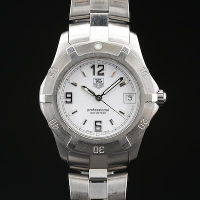 TAG Heuer 2000 Exclusive Stainless Steel Quartz Wristwatch