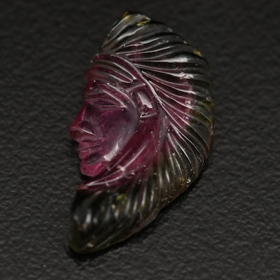 Loose 5.94 Carved Tourmaline